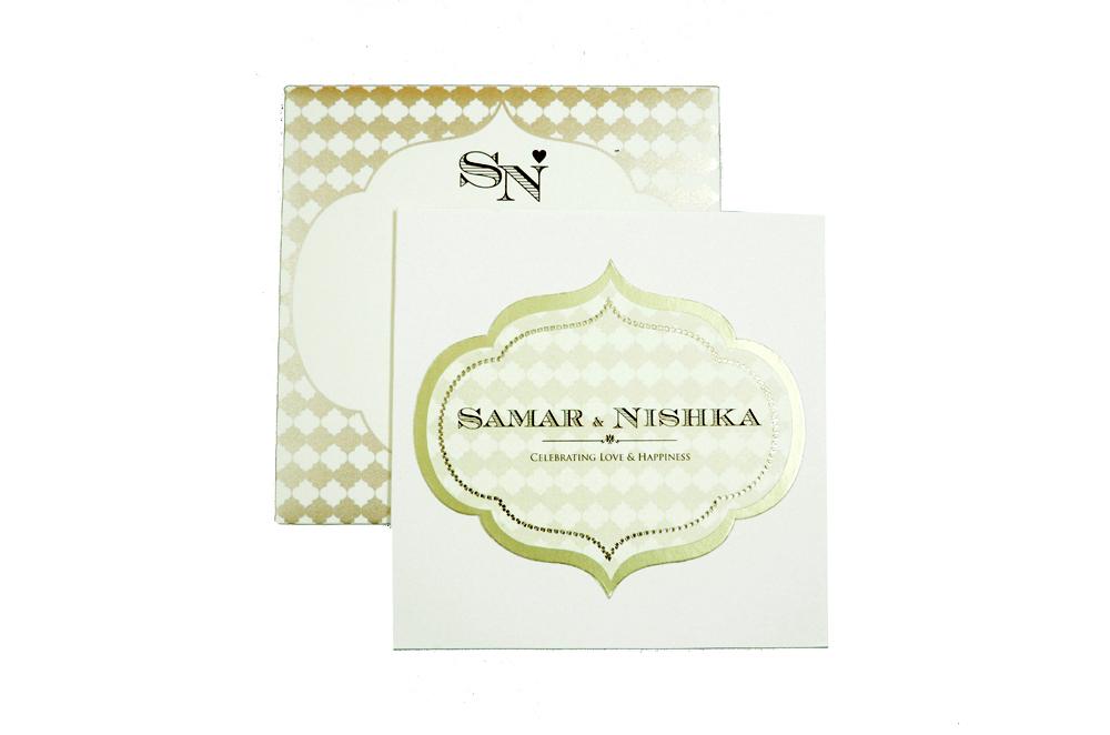 Designer Wedding Card PP 8230 Top View