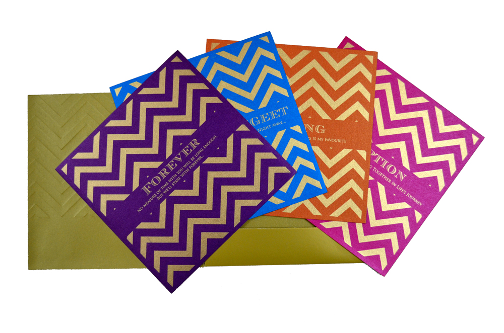 Hindu Wedding Card PP 8240 Top Inside View