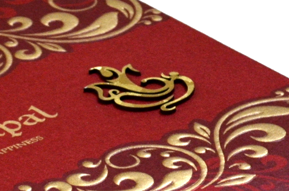 Hindu Wedding Card PP 8270 Zoom View