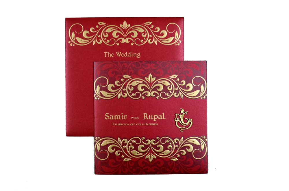Hindu Wedding Card PP 8270 Top View