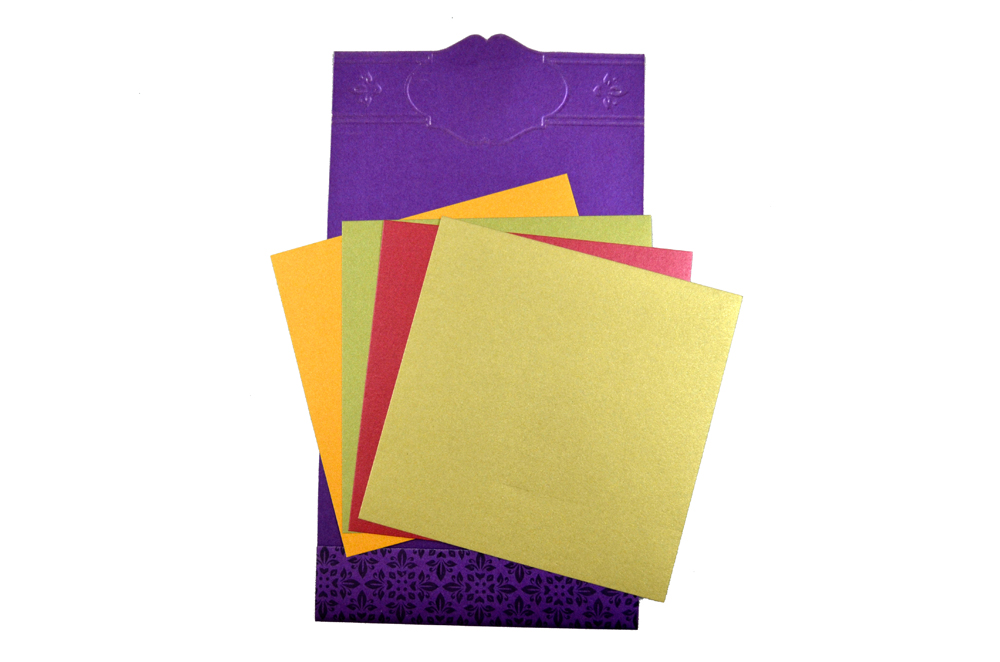 Hindu Wedding Card PP 8284 Top Inside View
