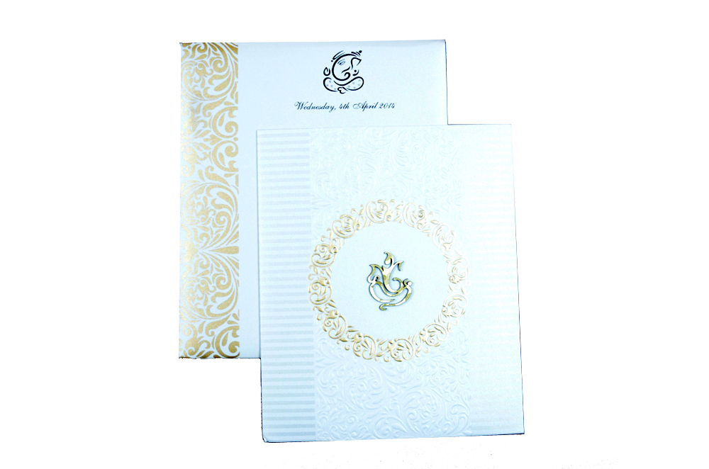 Hindu Wedding Card PP 8292 Top View