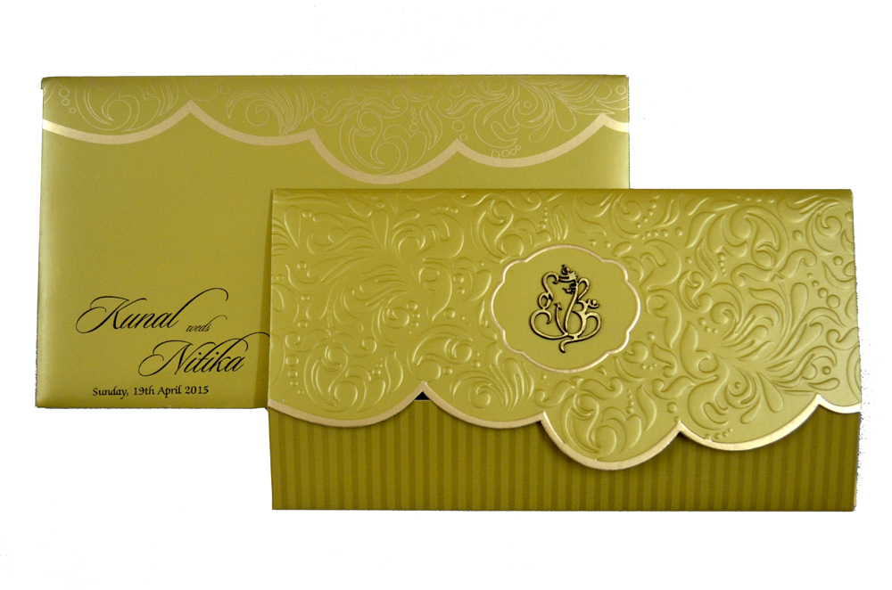 Hindu Wedding Card PP 8295 Top View