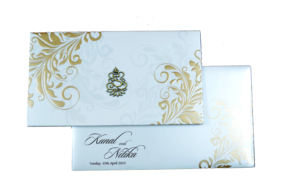 Hindu Wedding Card PP 8298 Top View