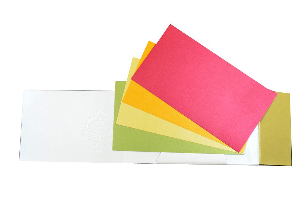 Designer Wedding Card PP 8300 Top Inside View