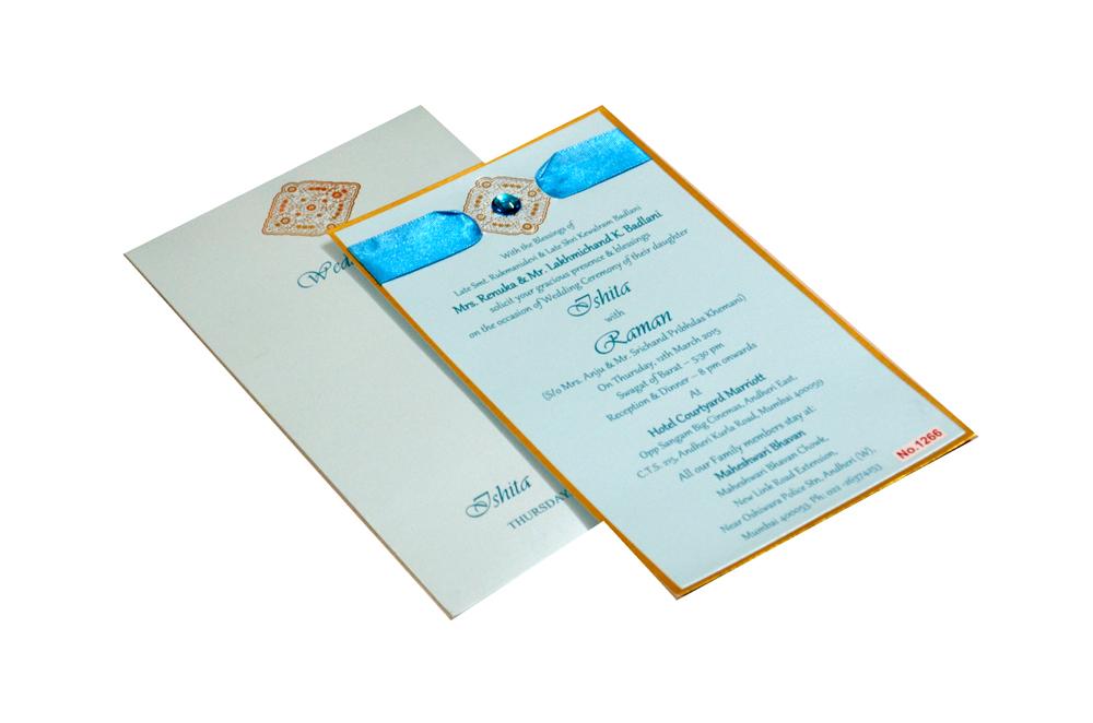 Blue Single Sheet Invitation REL 1266