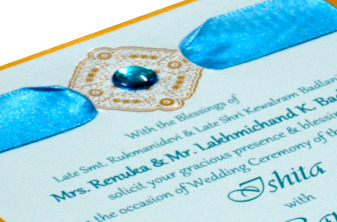 Blue Single Sheet Invitation REL 1266 Zoom View