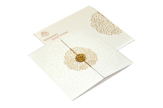 White Hindu Wedding Card REL 785