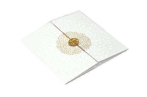 White Hindu Wedding Card REL 785 Card