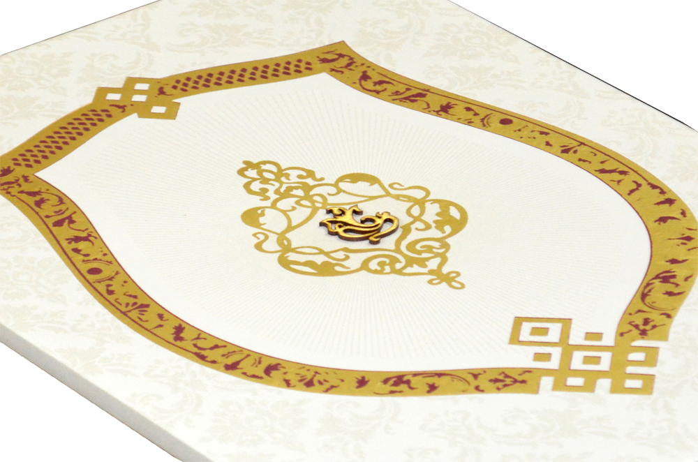 Padded Wedding Card REL 848 Zoom View
