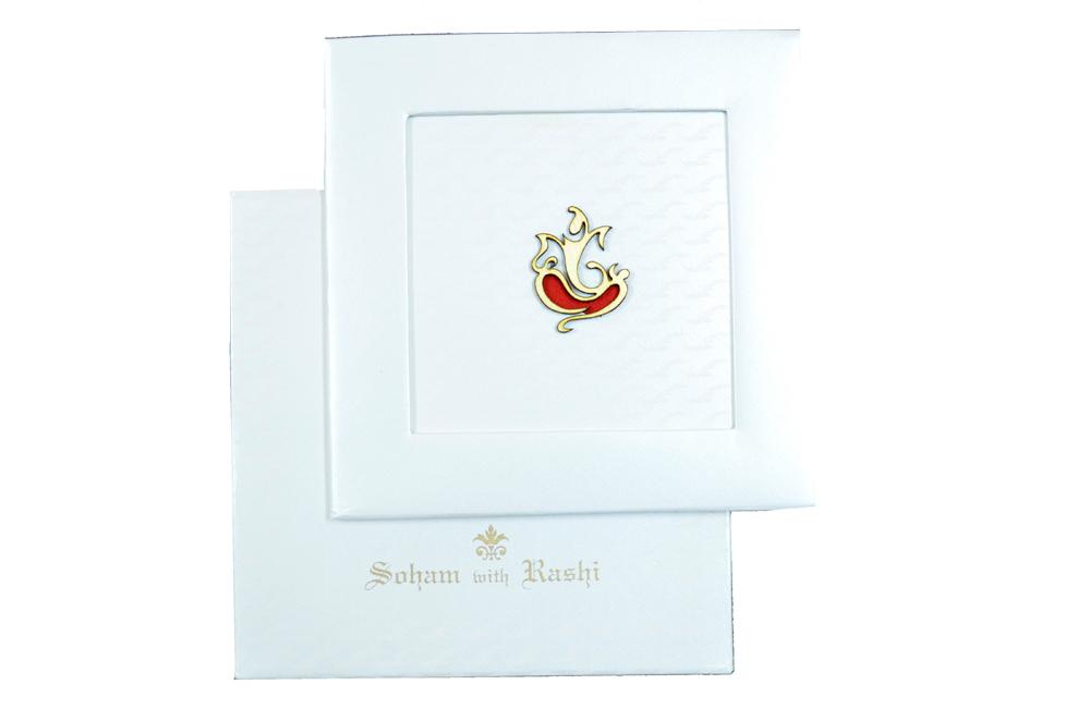 Hindu Padded Wedding Card RN 1836 Top View