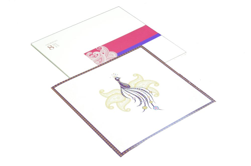 Peacock Theme Wedding Card RN 1847