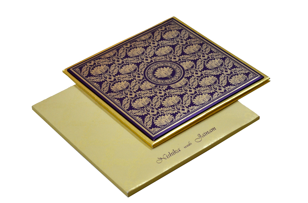 Designer Padded Wedding Card RN 1912