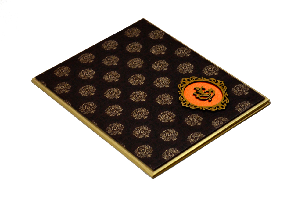 Padded Hindu Wedding Card RN 1924 Card