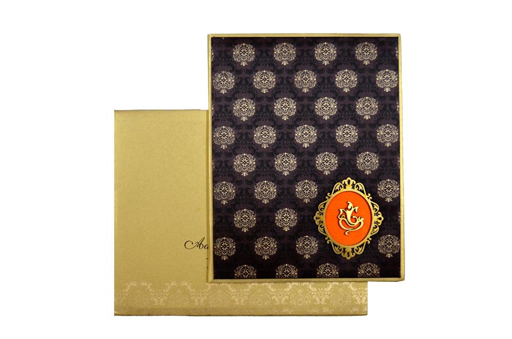 Padded Hindu Wedding Card RN 1924 Top View