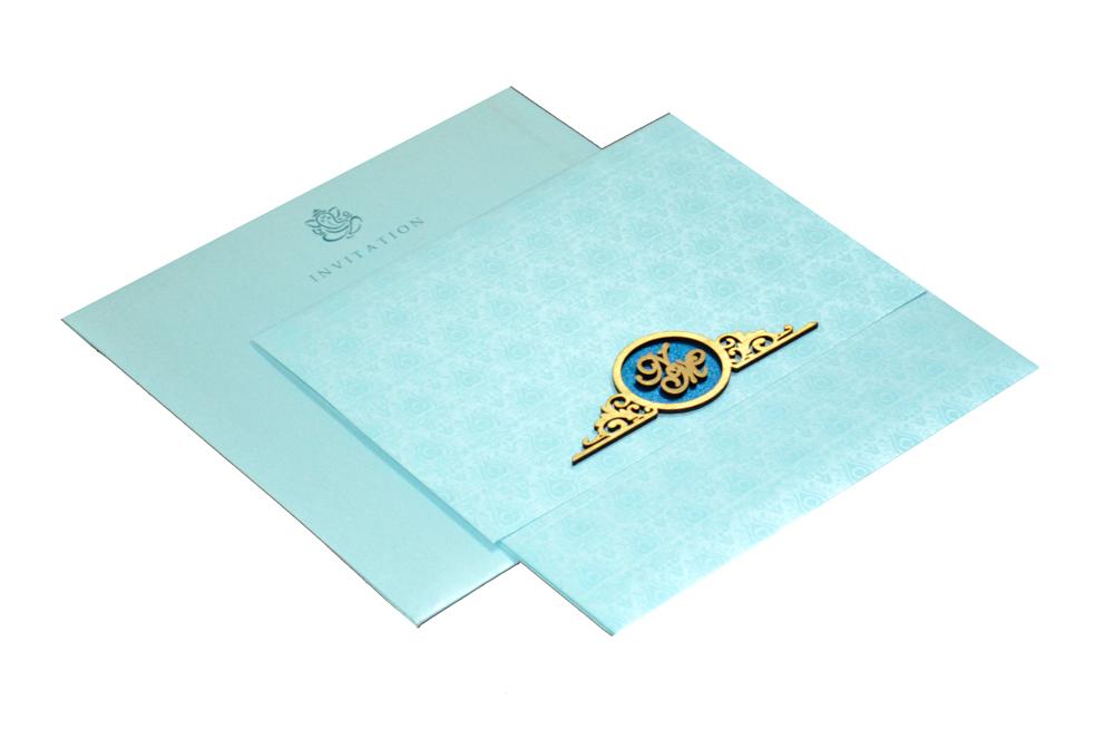 Designer Wedding Card RN 1931 BLUE