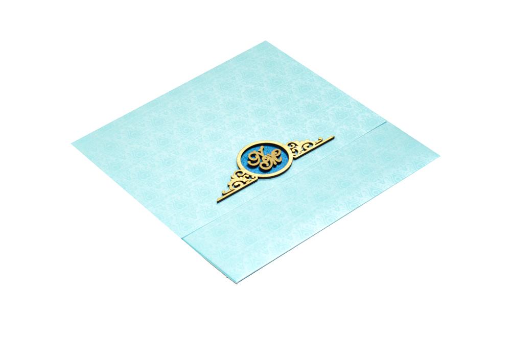 Designer Wedding Card RN 1931 BLUE Card