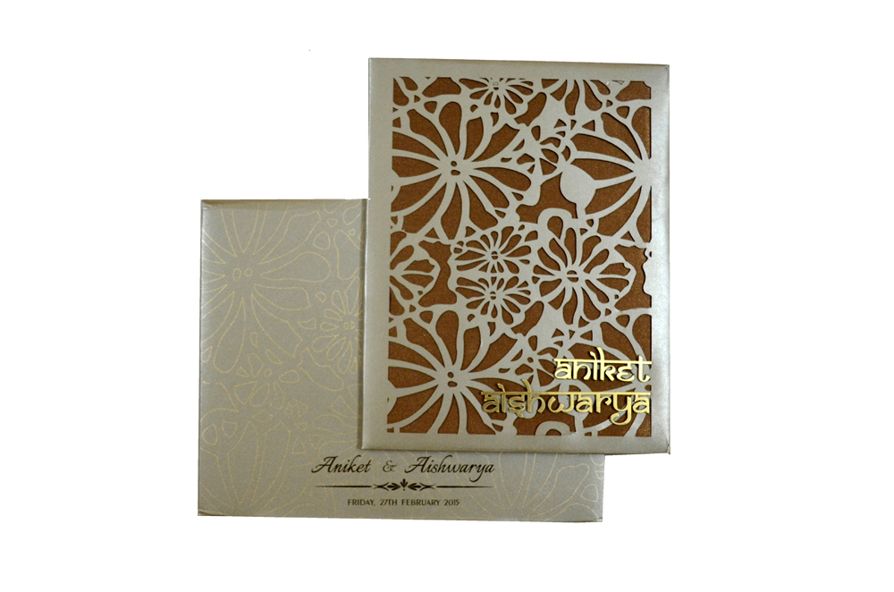 Laser Padded Wedding Card RN 1941 Top View