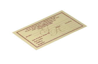 Matching RSVP Card without Envelope