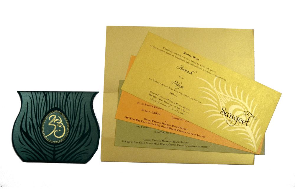 Hindu Wedding Card S 9026 Top Inside View
