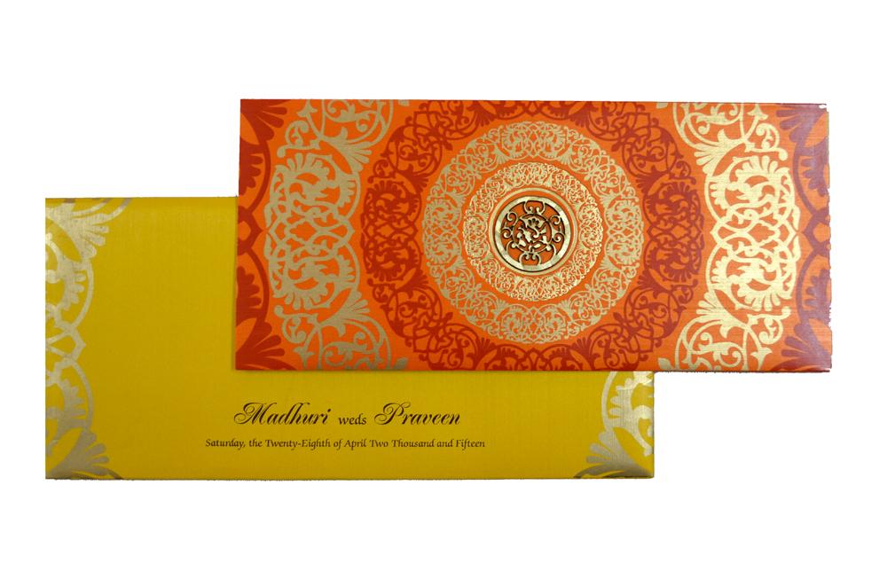 Designer Wedding Card S 9036 Top View