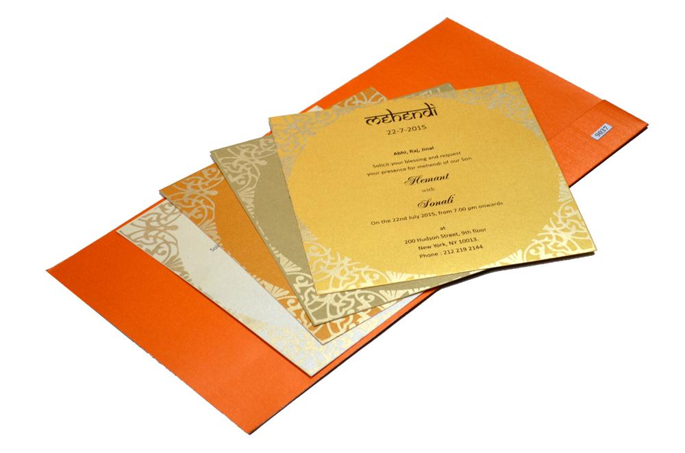 Designer Wedding Card S 9037 Inside View