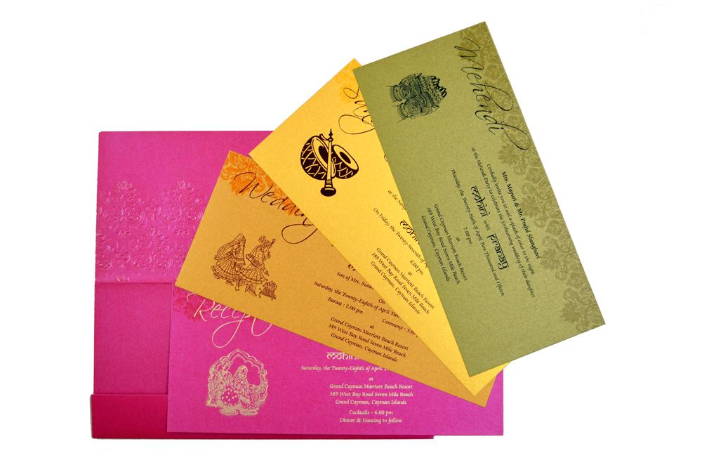 Designer Wedding Card S 9041 Top Inside View