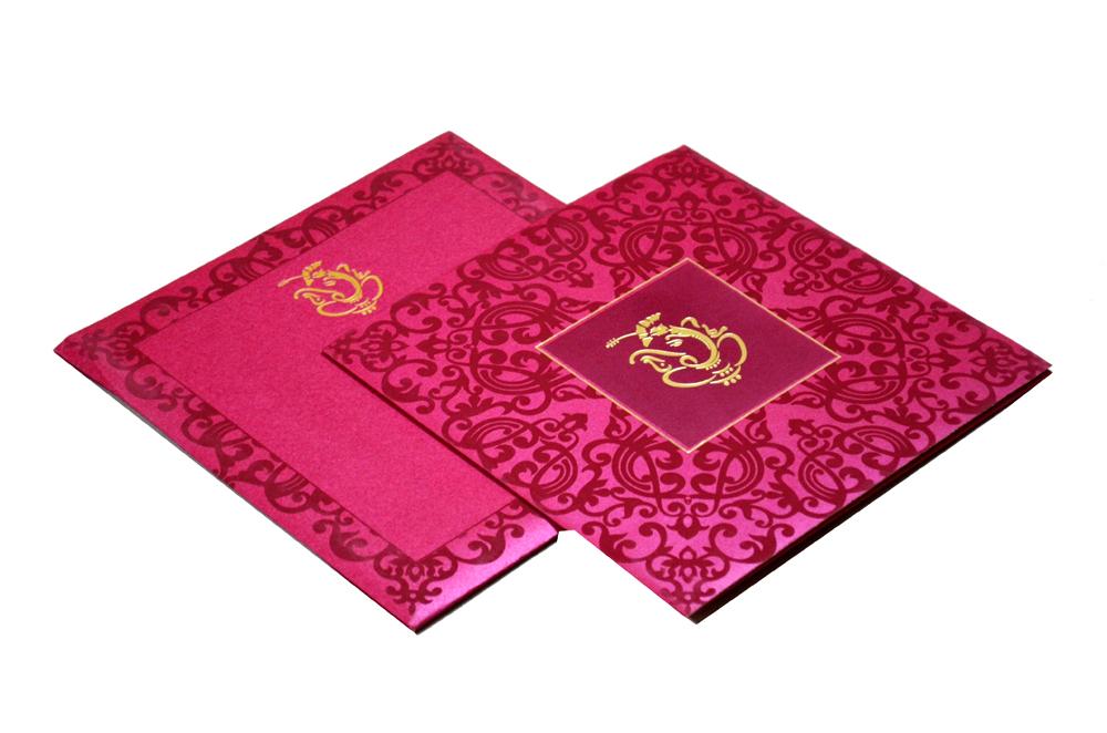 Hindu Wedding Card S 9047