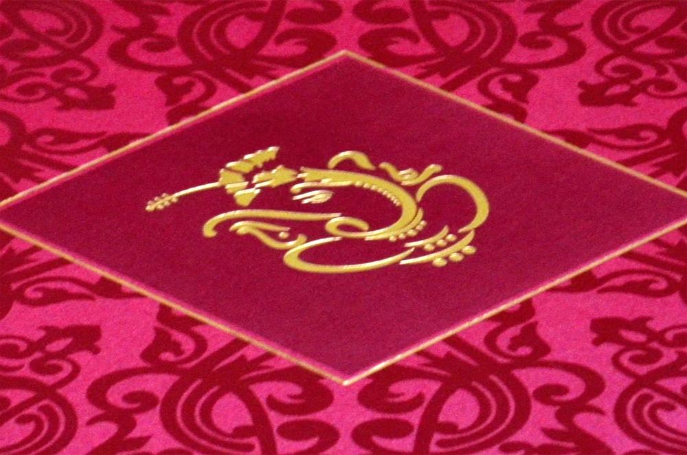 Hindu Wedding Card S 9047 Zoom View