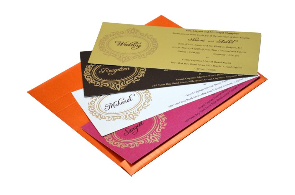 Hindu Wedding Card S 9051 Inside View