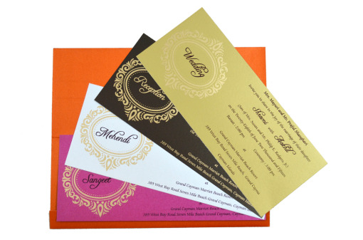 Hindu Wedding Card S 9051 Top Inside View