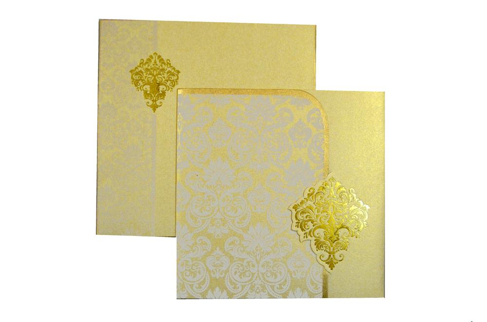 Designer Wedding Card S 9062 Top View