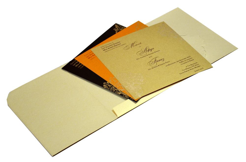 Designer Wedding Card S 9062 Inside View