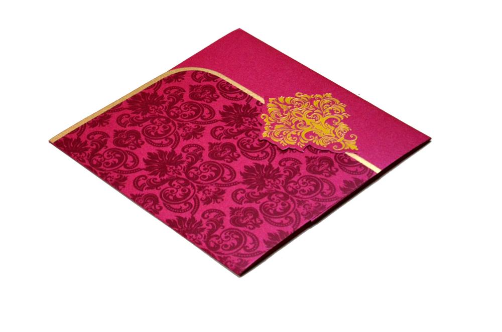 Designer Wedding Card S 9063 Card