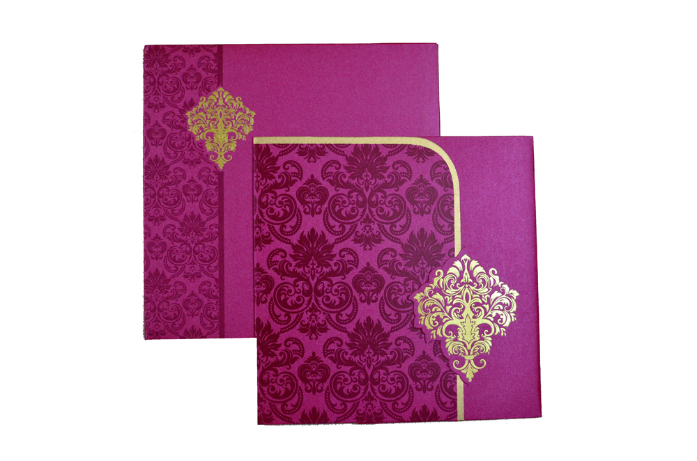 Designer Wedding Card S 9063 Top View