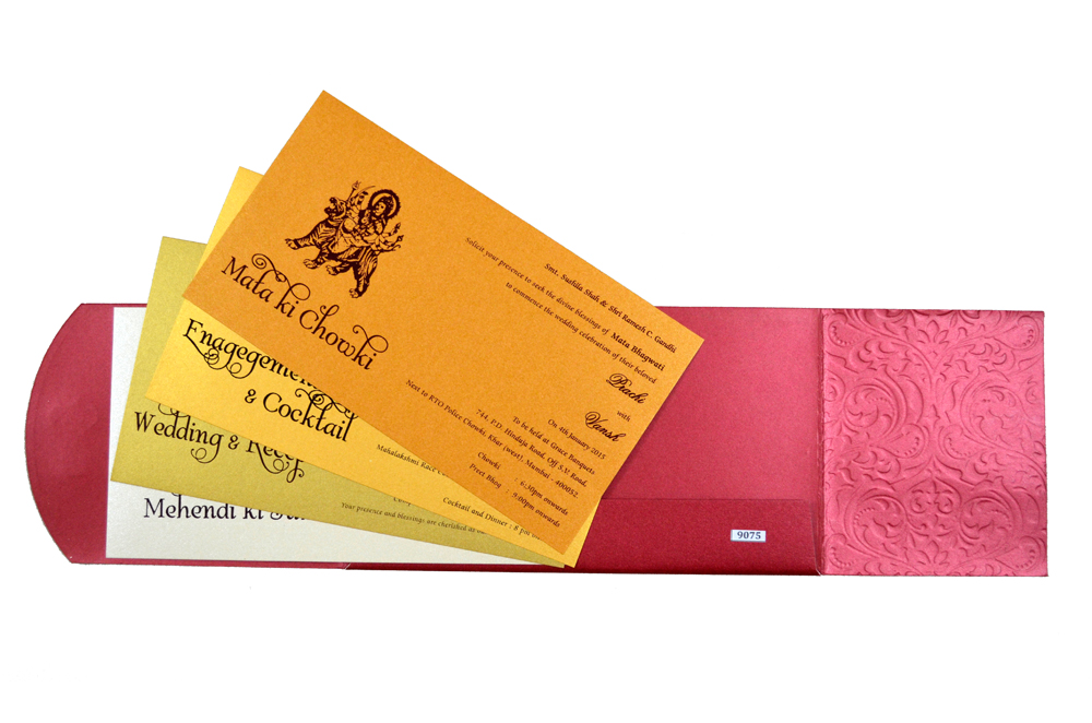 Hindu Wedding Card S 9075 Top Inside View