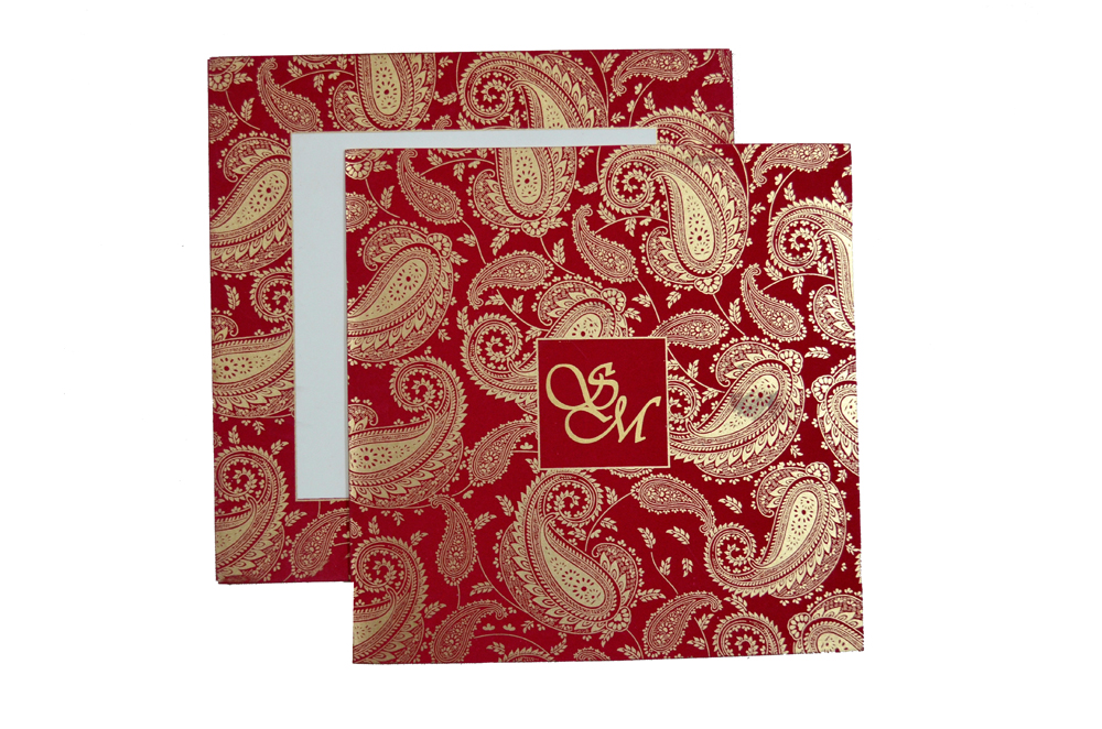 Designer Wedding Card S 9135 Top View