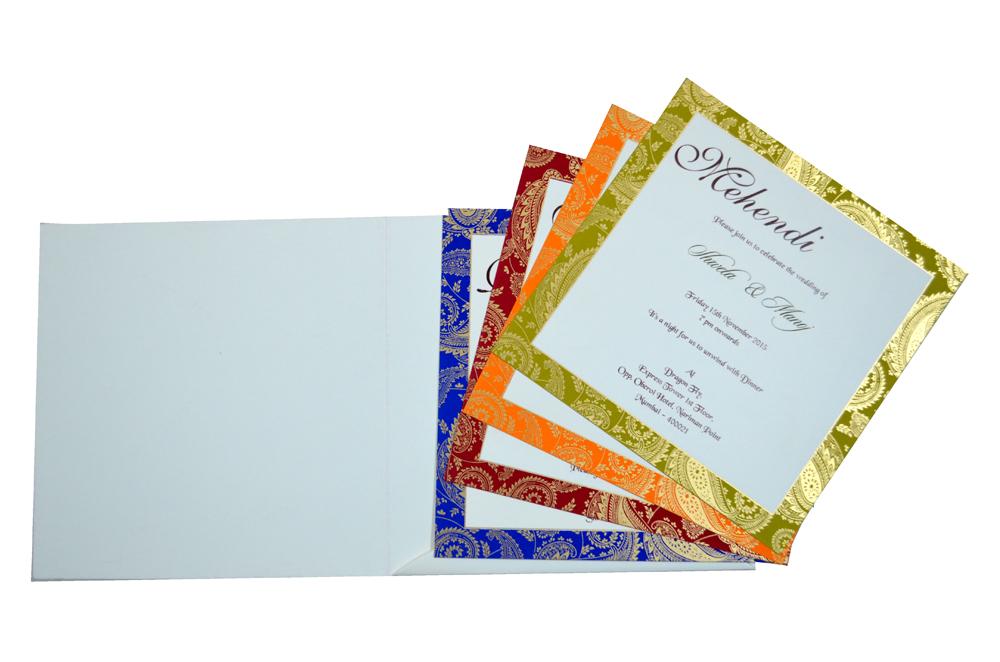 Designer Wedding Card S 9135 Top Inside View