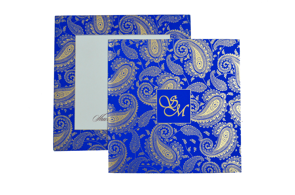 Designer Wedding Card S 9136 Top View