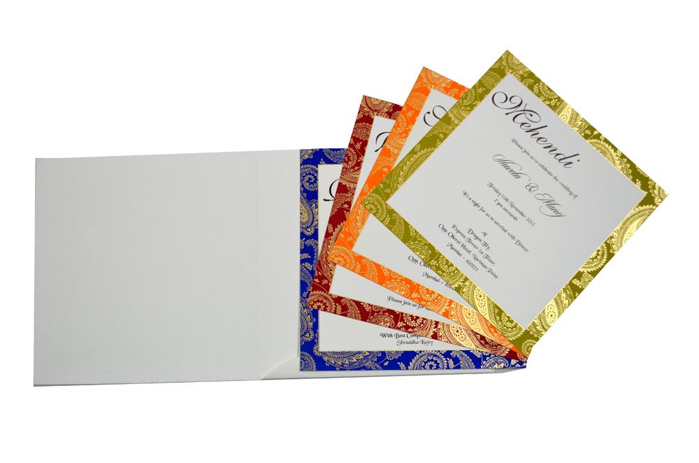Designer Wedding Card S 9136 Top Inside View