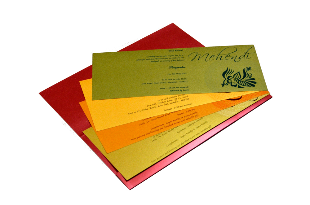 Designer Wedding Card S 9170 Inside View