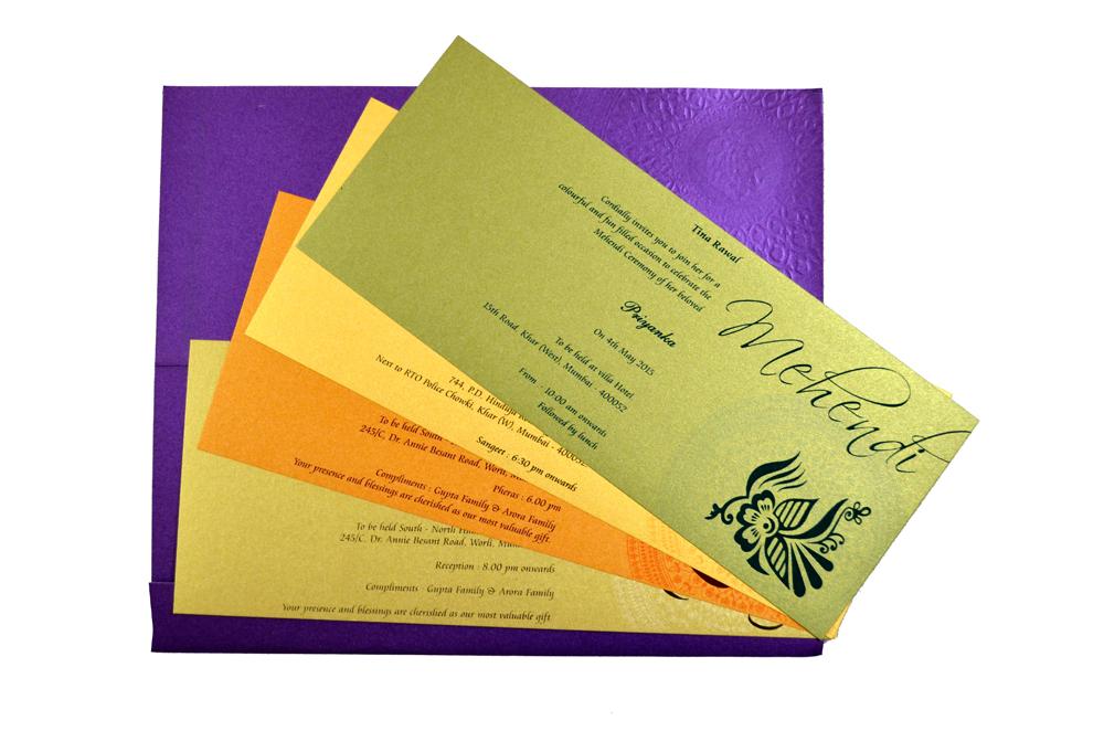 Designer Wedding Card S 9171 Top Inside View