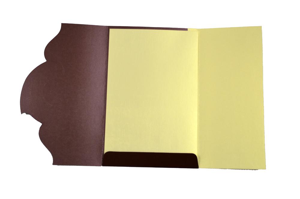 Budget Wedding Card SL 4378 Top Inside View