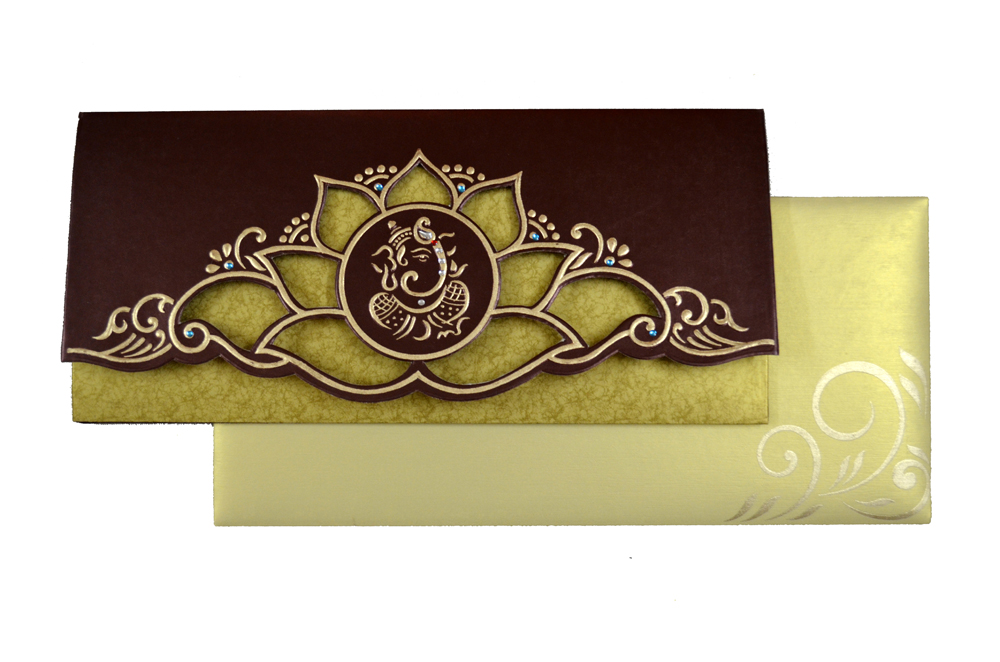 Hindu Wedding Card SL 4409 Top View