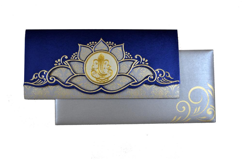 Hindu Wedding Card SL 4410 Top View