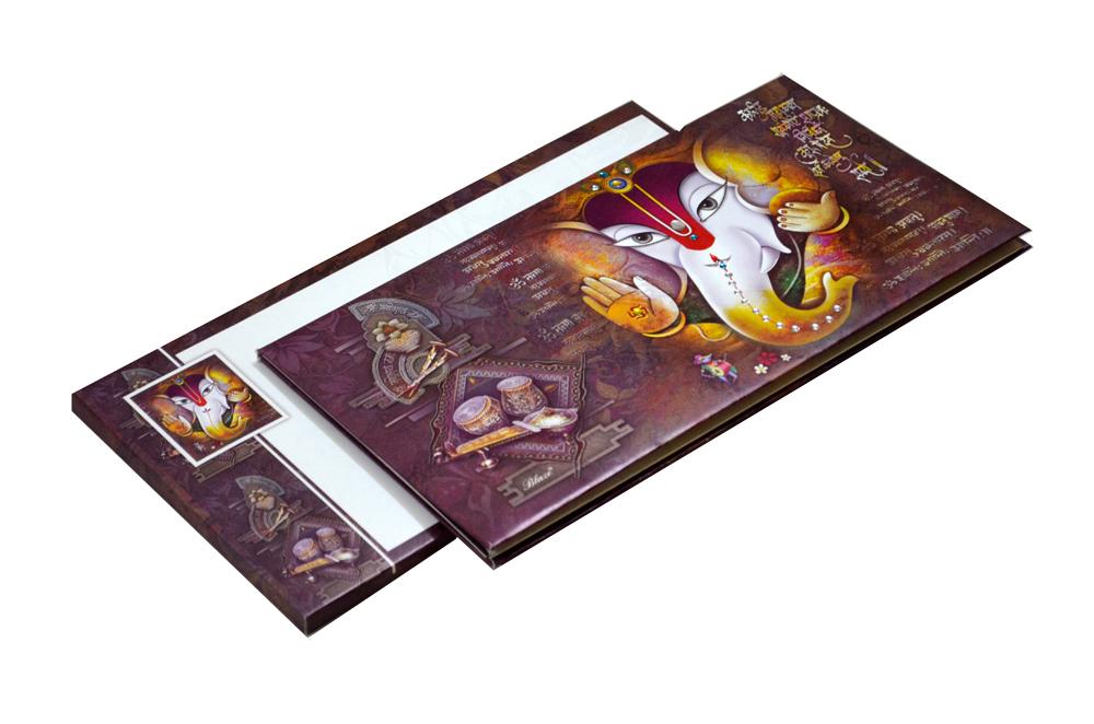 Hindu Wedding Card SL 5533