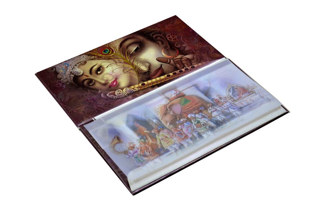 Hindu Wedding Card SL 5533 Inside View 1