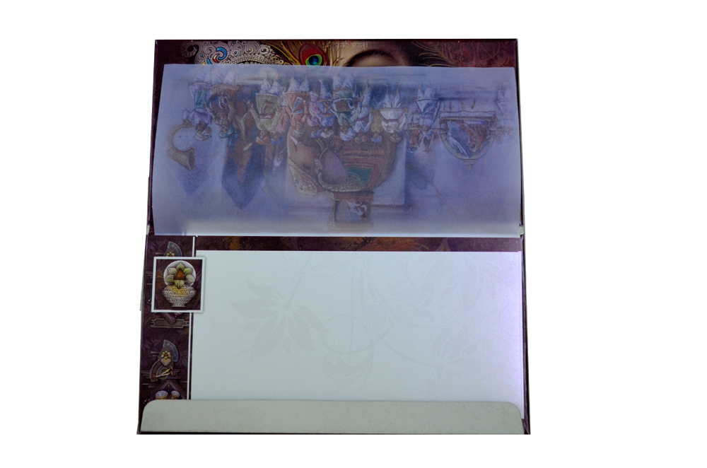 Hindu Wedding Card SL 5533 Top Inside View