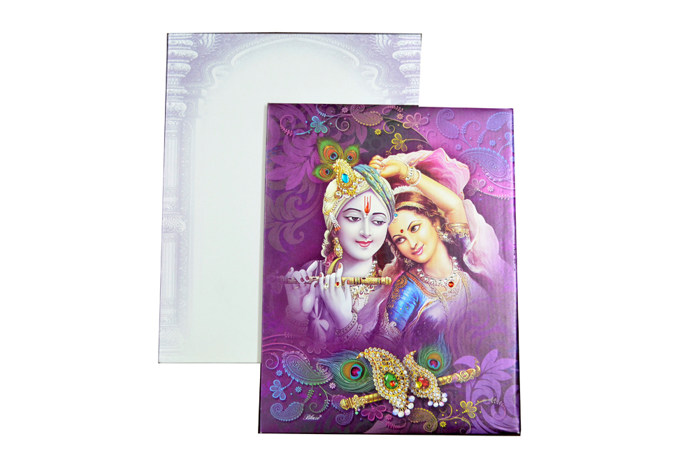 Padded Wedding Card SL 89 Top View