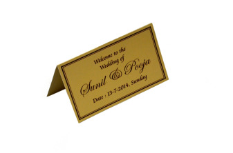 Matching Table Card or Place Card Front View